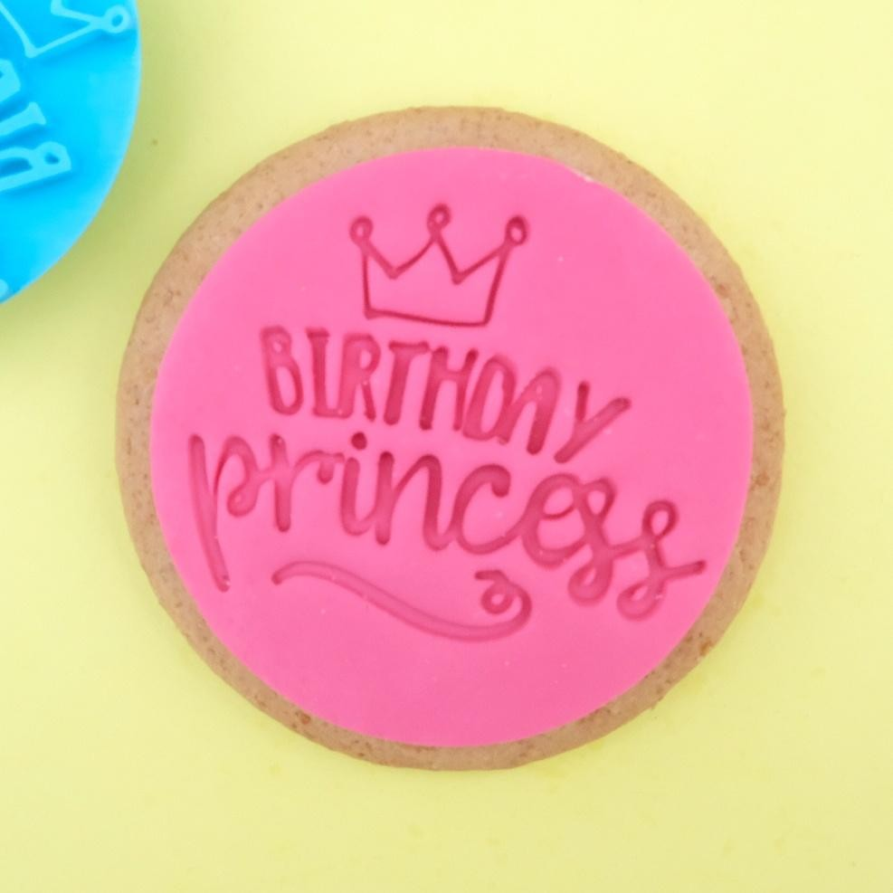 Sweet Stamp Cookie/Cupcake-stempel - Birthday Princess