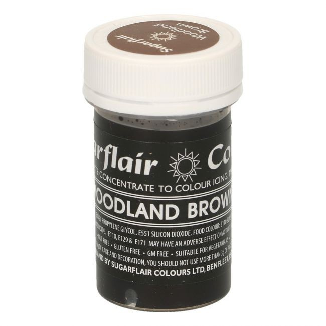 Sugarflair pastafarge Woodland Brown, 25g