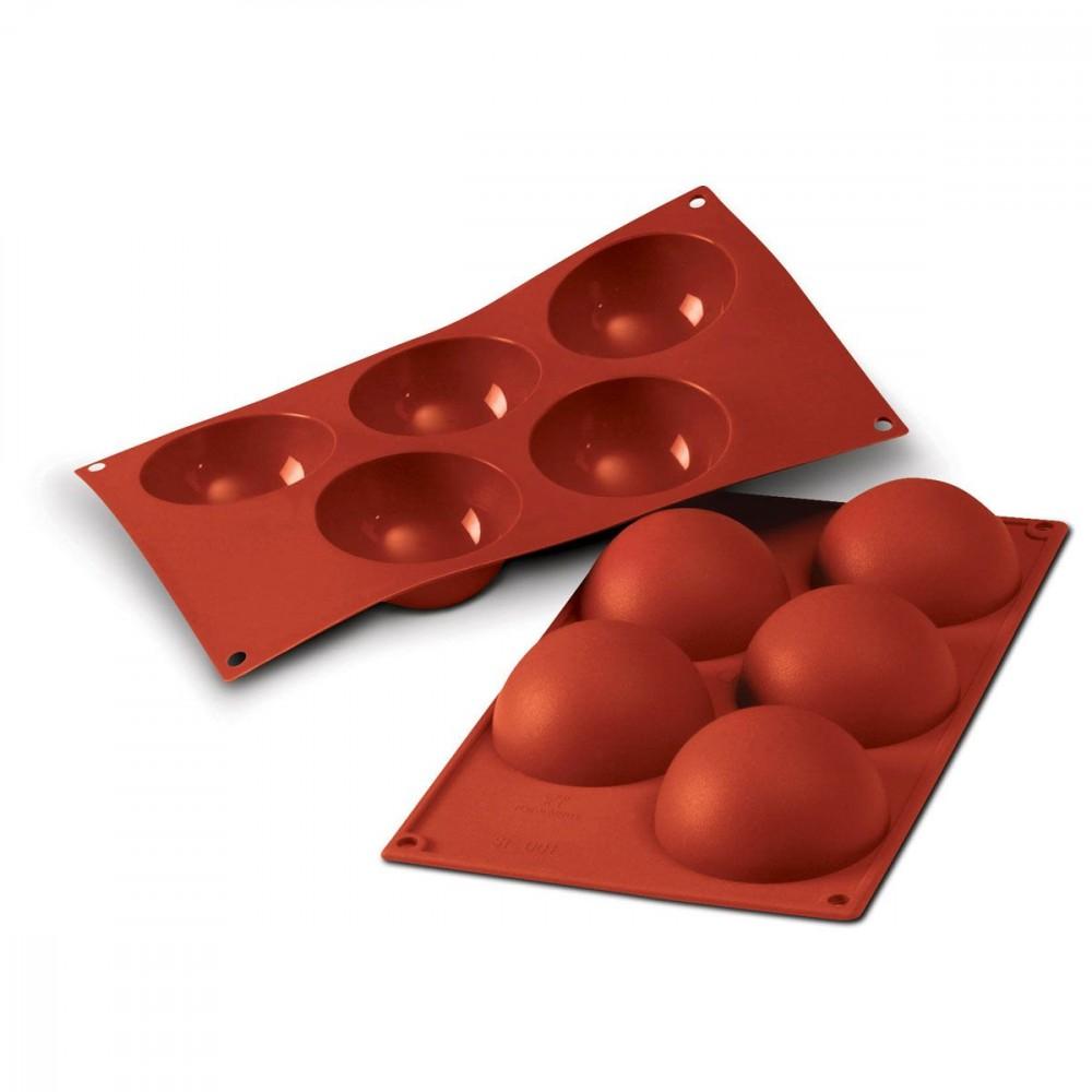 Silikomart halvkuleformer i silikon, Ø 8cm