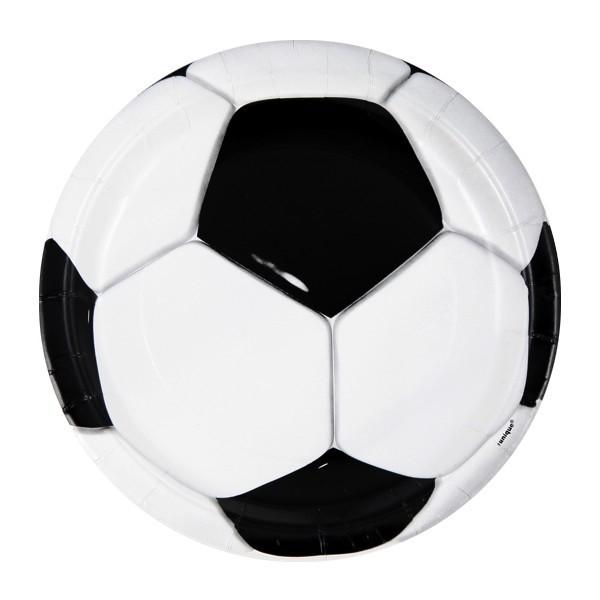 Fotball engangsfat 22cm, 8stk