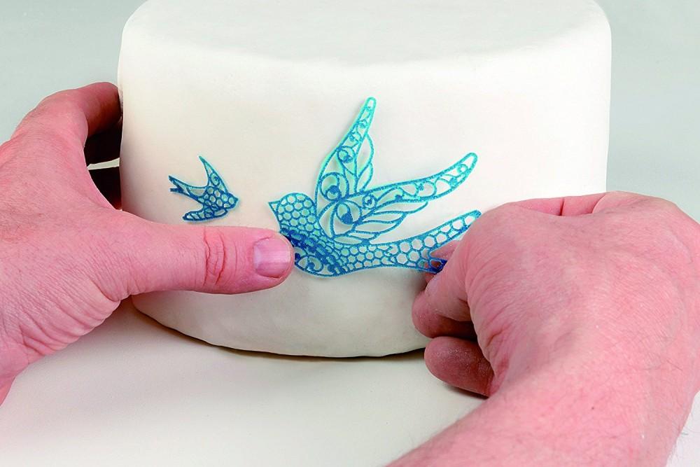 Silikomart Cake Lace silikonmatte -Fugler-