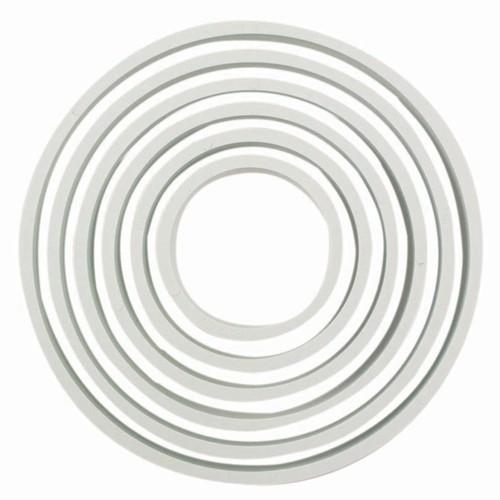 PME Ustikkersett i plast -Sirkel- 6 stk