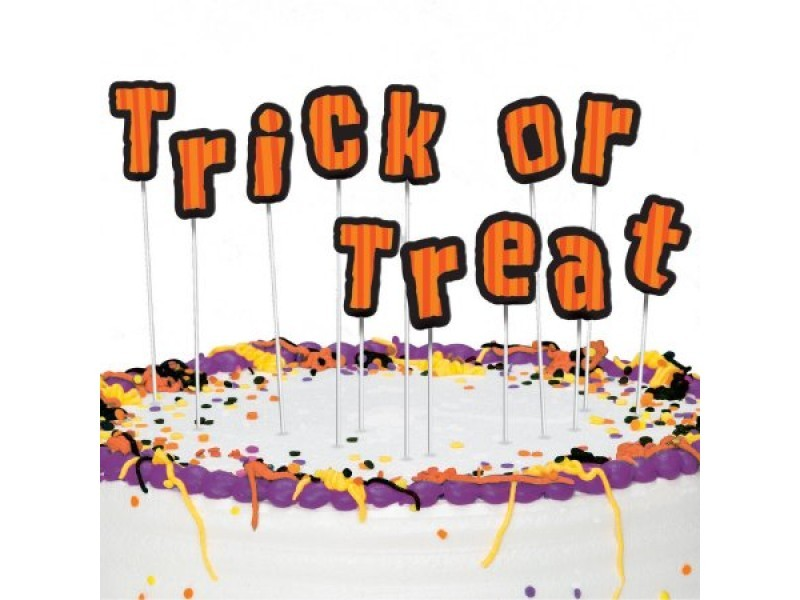 Kaketopper til Halloween -Trick or Treat- sett/12