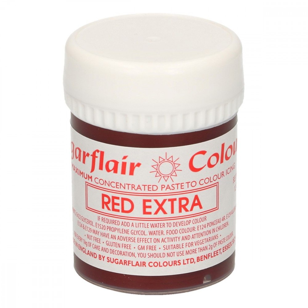 Sugarflair - Max Concentrate pastafarge Red Extra, 42g