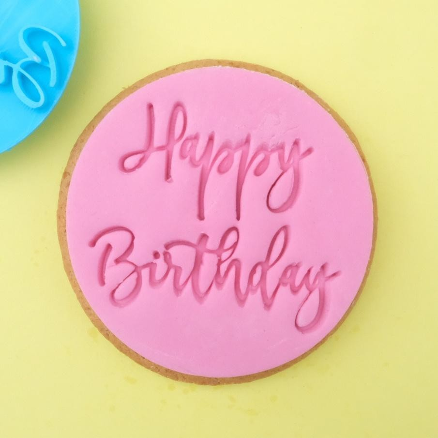 Sweet Stamp Cookie/Cupcake-stempel - Trendy Happy Birthday