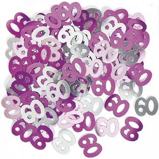 Konfetti -60- Rosa og sølv