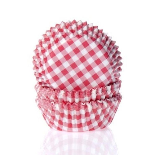 House of Marie Muffinsformer Gingham Rød -Mini- pk/50
