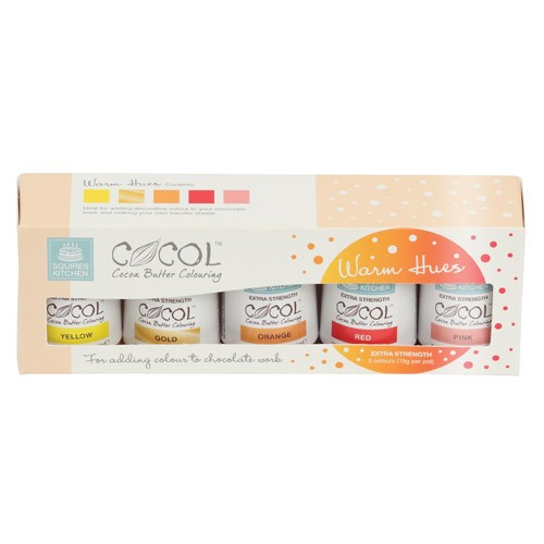 SK Professional COCOL Cocoa Butter Colouring - Warm- 5pk