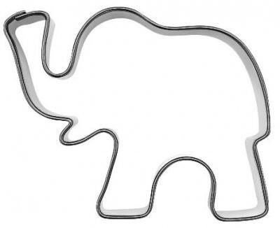 Pepperkakeform Elefant liten 5,5cm