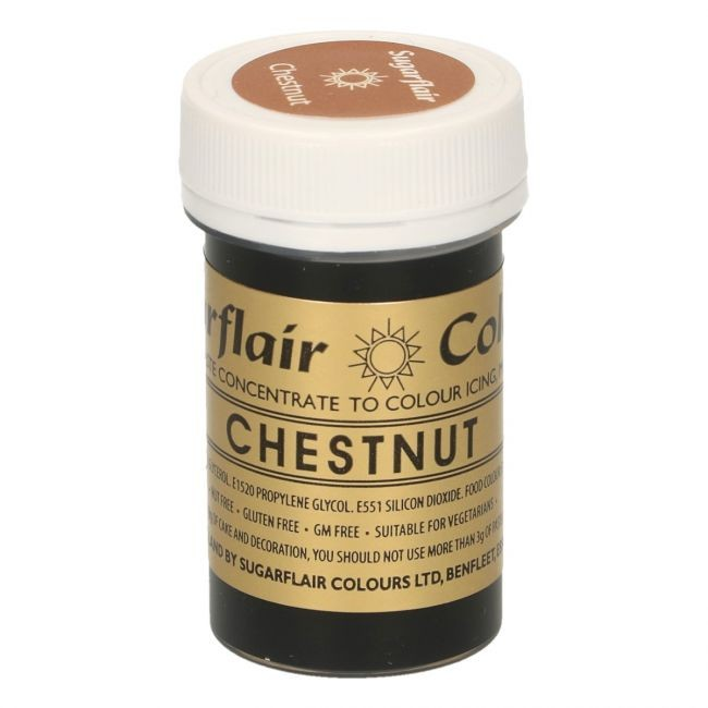 Sugarflair pastafarge Chestnut, 25g