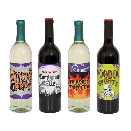 Flaske-etiketter til halloween