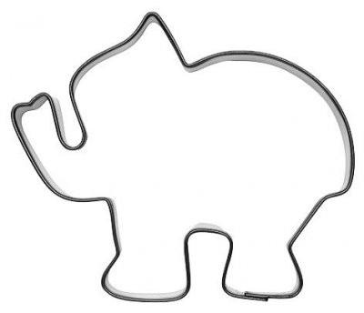 Pepperkakeform elefant stor - 9 cm