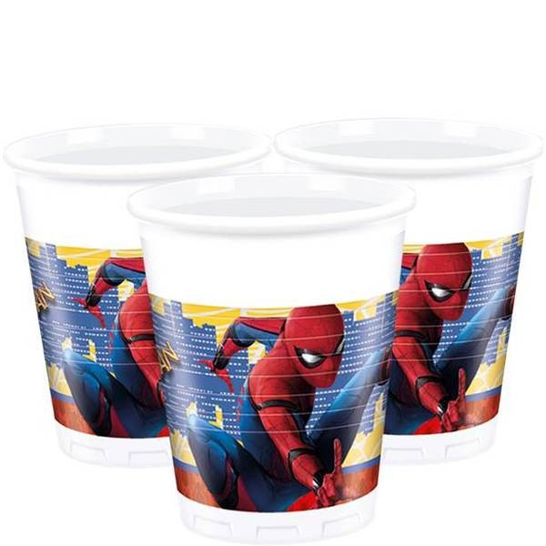 Plastkopper -Spiderman Homecoming- pk/8