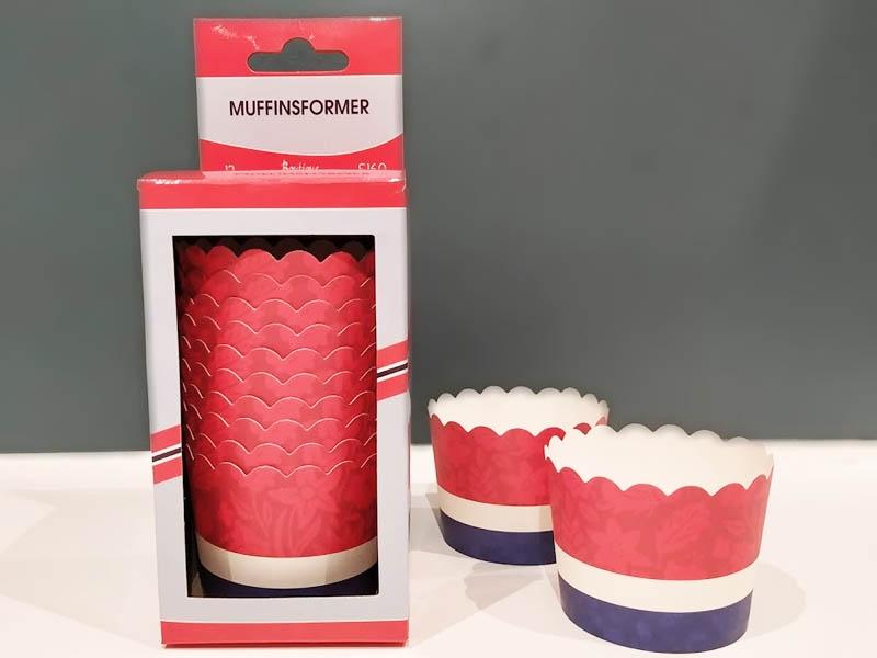 Muffinsform i papp, Norske farger pk/12