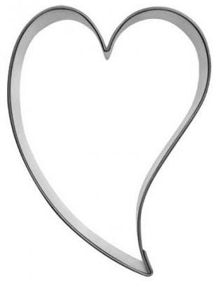 Pepperkakeform hjerte skjevt XS - 3 cm
