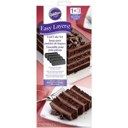 Wilton kakeform flerlagskake firkantet 25x10cm, 4 deler