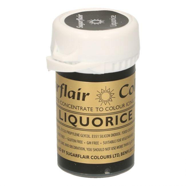 Sugarflair pastafarge Liquorice/Black, 25g