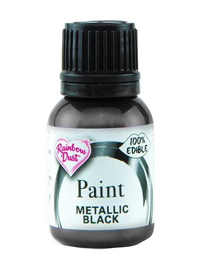 Spiselig maling Metallic Black 25ml