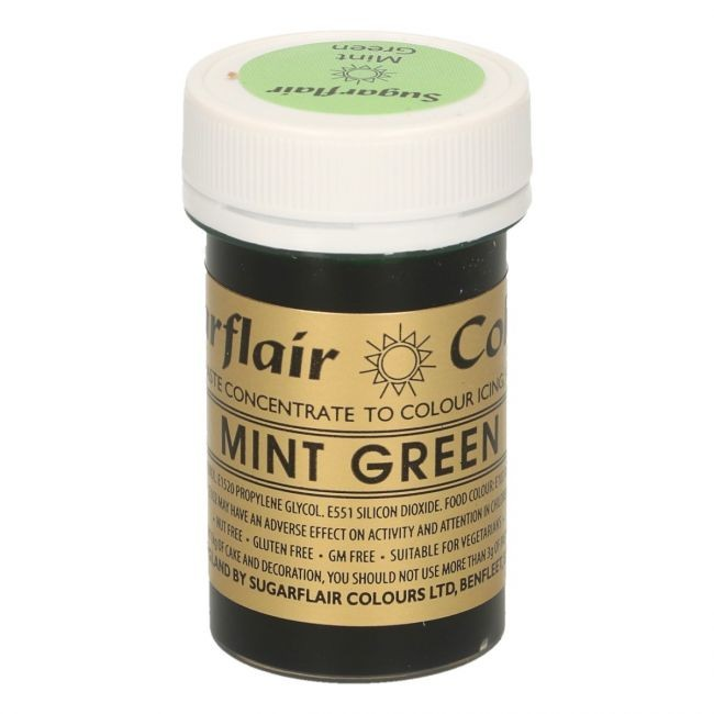 Sugarflair pastafarge Mint green, 25g