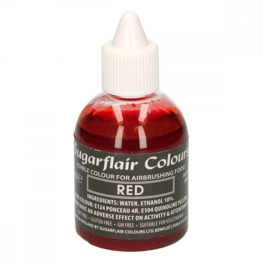 Sugarflair Airbrushfarge -Rød- 60ml