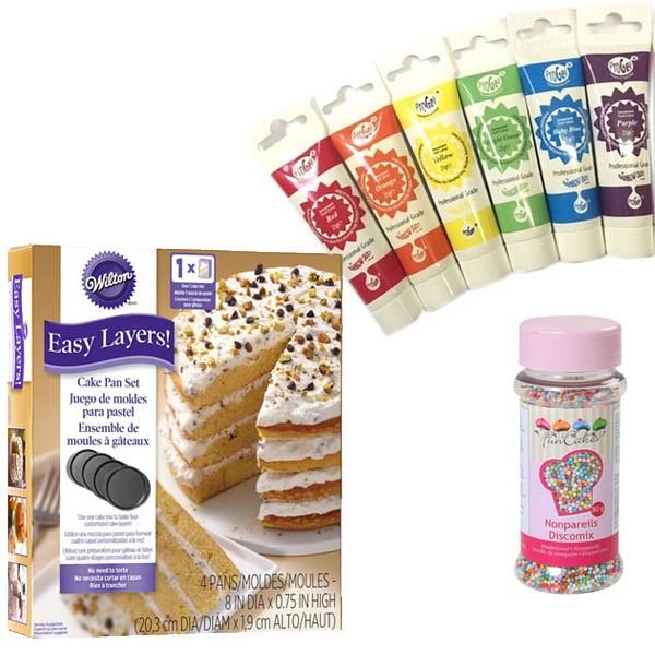 Produktpakke til regnbuekake -20cm-