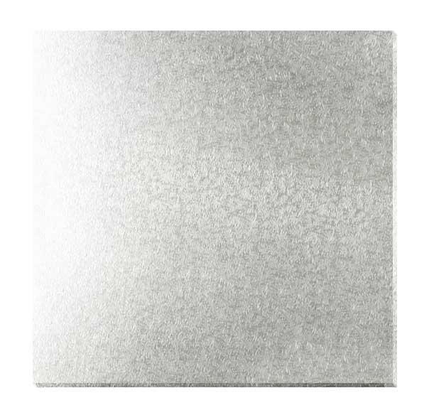 Kakebrett kvadrat, 2pk, Sølv 40x40cm
