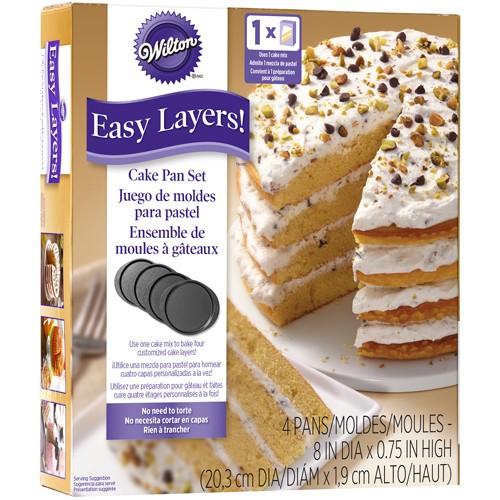 Wilton kakeform Flerlagskake Rund 20cm, 4 deler