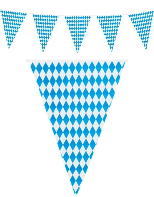 Oktoberfest vimpelrekke, 10 meter, papirflagg