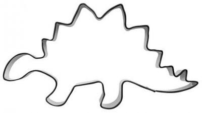Pepperkakeform stegosaurus - 12 cm