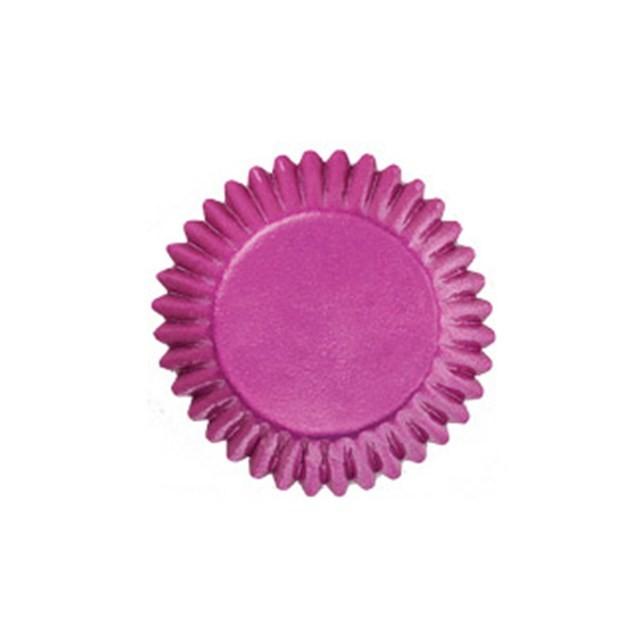 Miniformer med folie, Rosa, 75 stk