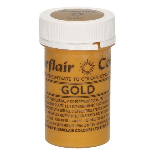 Sugarflair pastafarge Satin Gold 25g