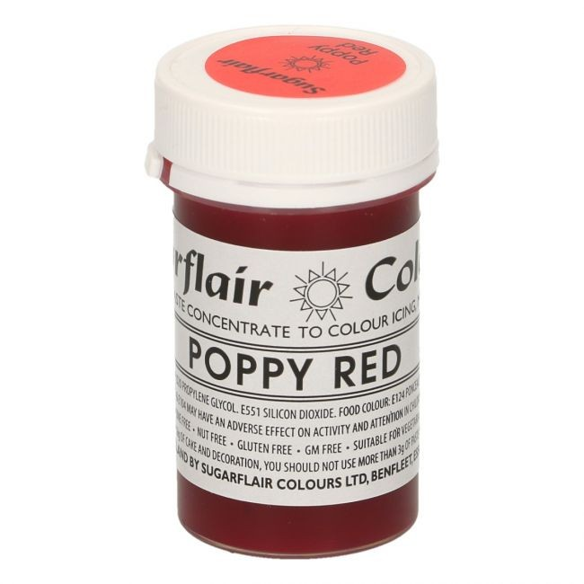Sugarflair pastafarge Poppy Red, 25g