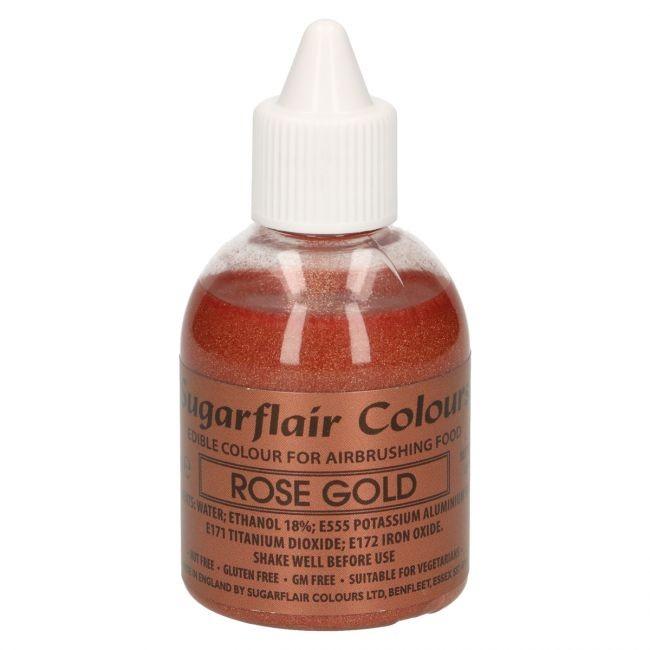 Sugarflair Airbrushfarge -Glitter rosegull- 60ml