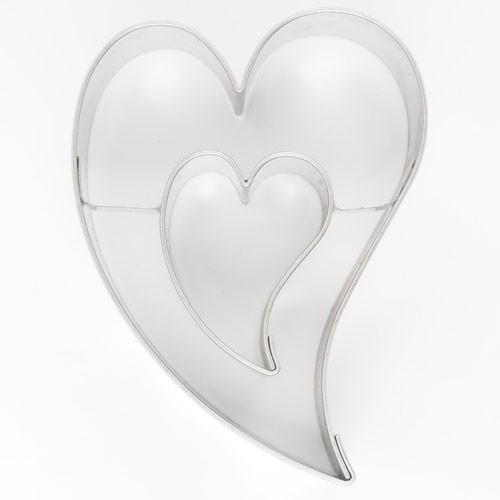 Pepperkakeform Dekorativt Hjerte-i-hjerte 7cm