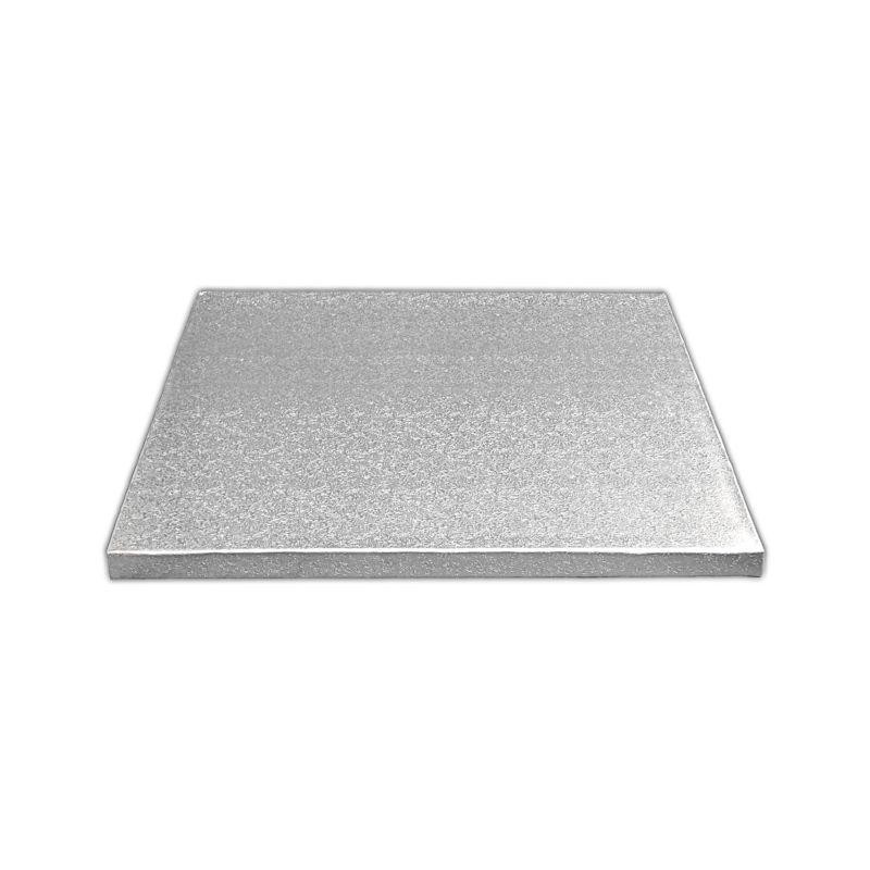 Kake Drum Kvadrat Sølv 12,5cm