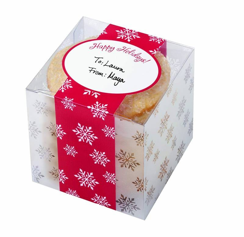 Gaveesker til jul -Happy Holidays- 7,6x7,6x7,6cm, pk/3