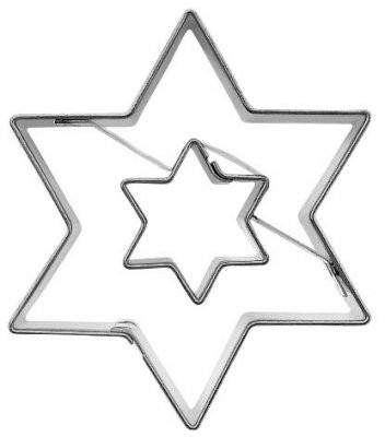 Pepperkakeform stjerne dobbel - 5,5 cm