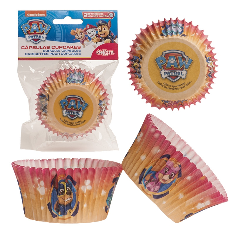 Paw Patrol muffinsformer, gul pk/25