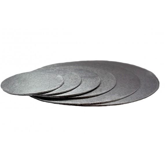 Kakebrett Rund Sølv 35cm