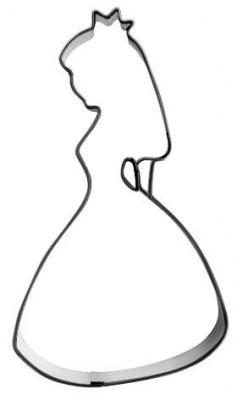 Pepperkakeform Prinsesse 12cm