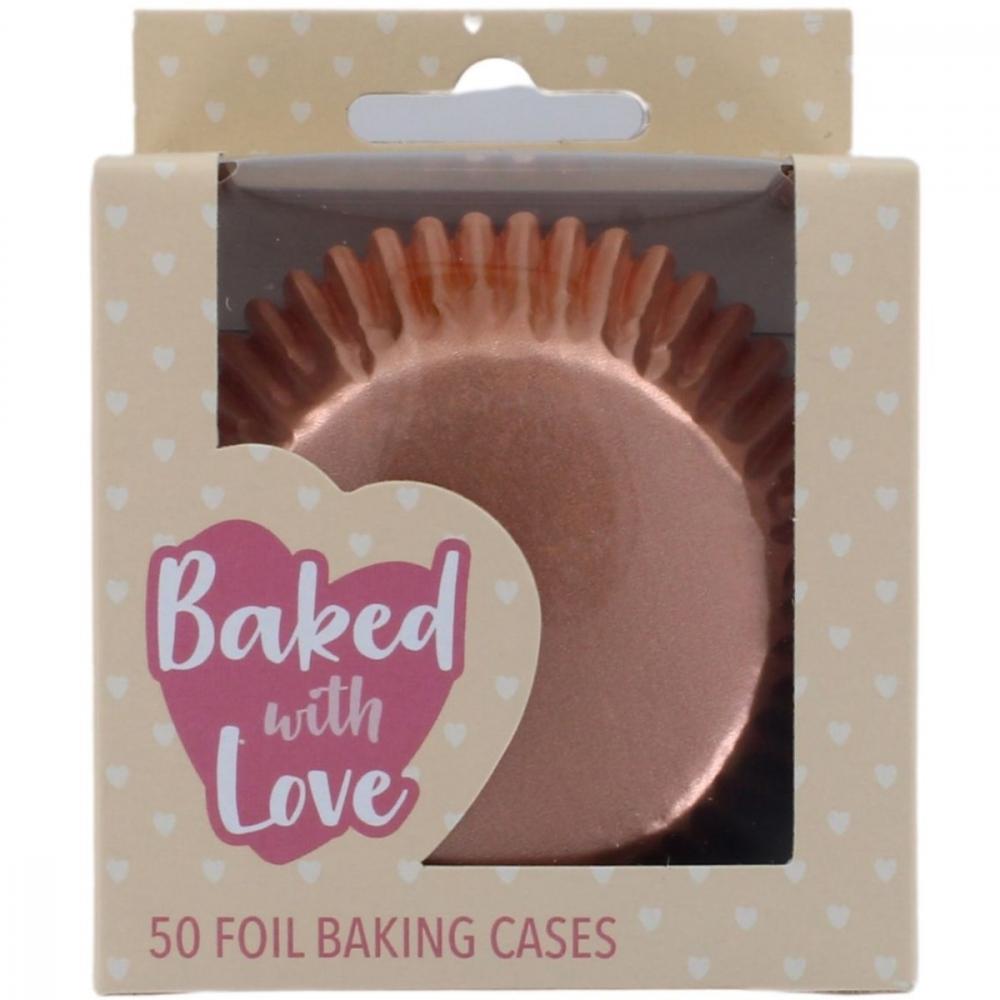Baked With Love Muffinsformer -rosegull- pk/50