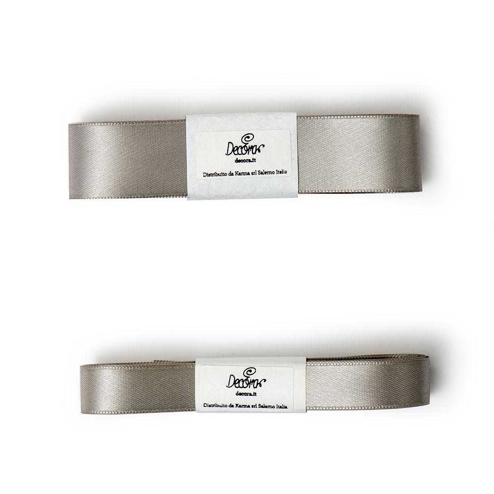 Satengbånd, Sølv -25mm- 3m