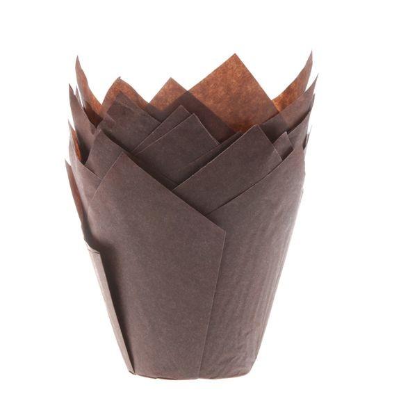 Brun muffinsform tulipan fra House of Marie pk/36
