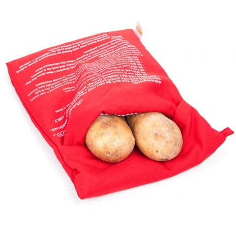 Potetpose for bakt eller kokt potet i mikrobølgeovn