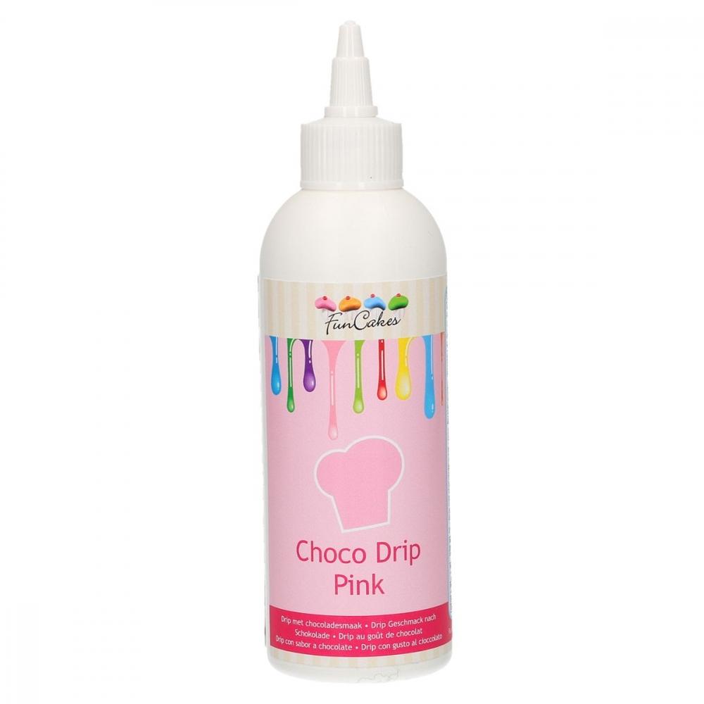FunCakes Choco Drip -Rosa- 180g