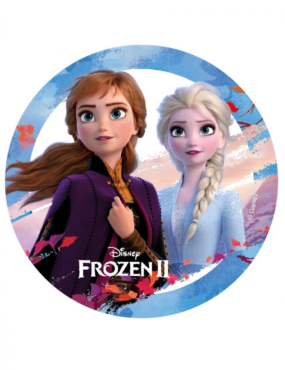 Kakebilde Disney´s Frost 2 -14cm- Elsa og Anna, versjon 2
