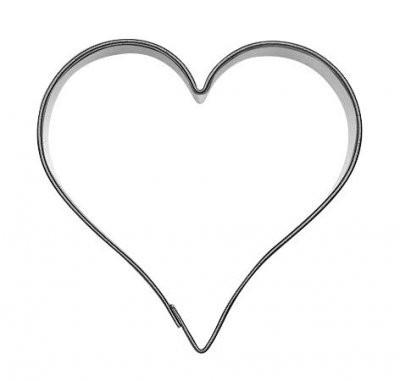 Pepperkakeform hjerte 2 S - 6 cm