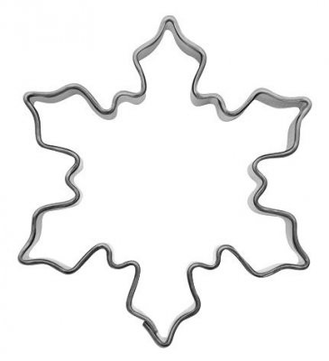 Pepperkakeform snøflak lite - 5 cm