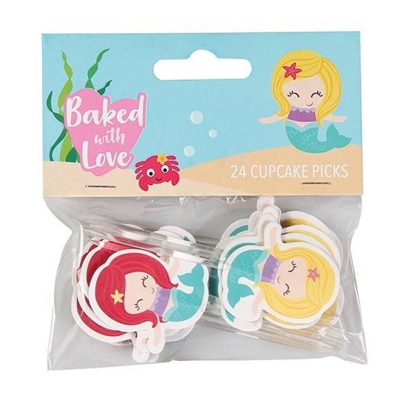 Dekorasjoner til Cupcakes - Havfrue