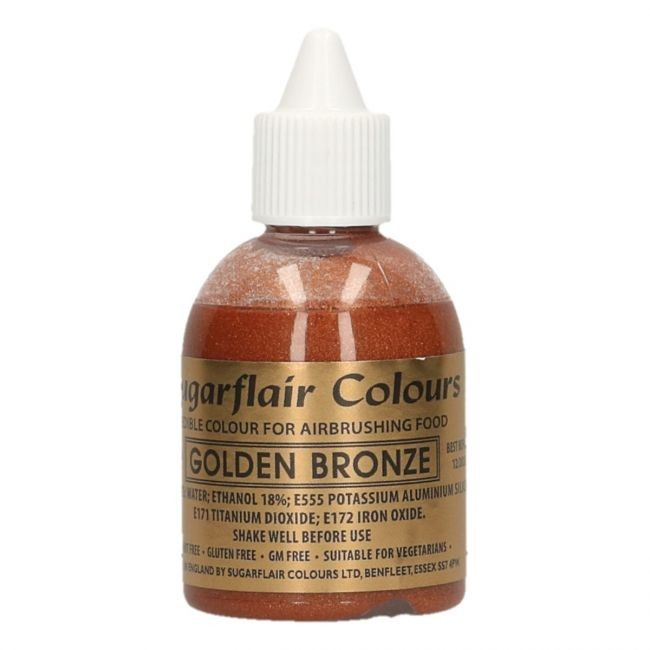 Sugarflair Airbrushfarge -Gylden bronse- 60ml